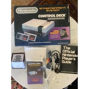 NES Box, Wires, & Pamphlets